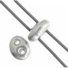 Twin 2-hole Bead 2.5x5mm Metallic Silver
